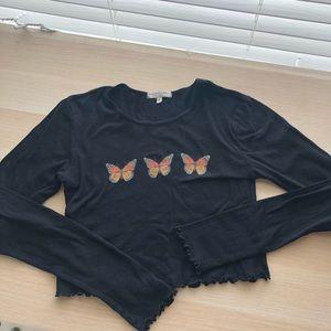 UO Butterfly ruffle top